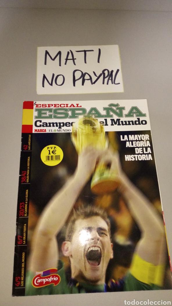 REVISTA ESPECIAL ESPAÑA CAMPEÓN DEL MUNDO IKER CASILLAS EN PORTADA (Coleccionismo Deportivo - Revistas y Periódicos - otros Fútbol)