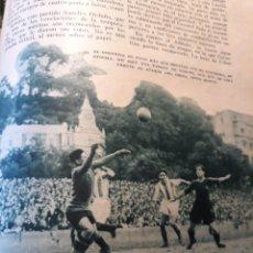 Coleccionismo deportivo: ESTADIO DE ATOCHA EN 1932 .- DONOSTIA 1 - BARCELONA 1 - AÑO 1932 - HOJA - 25 X 18 CM. Lote 168061028