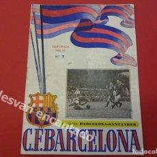 Coleccionismo deportivo: CF BARCELONA. PROGRAMA BARCELONA-SANTANDER. TEMPORADA 1952-53. Lote 168069980