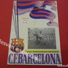 Coleccionismo deportivo: CF BARCELONA. PROGRAMA BARCELONA-REAL SOCIEDAD. TEMPORADA 1952-53. Lote 168070040