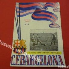 Coleccionismo deportivo: CF BARCELONA. PROGRAMA BARCELONA-SEVILLA. TEMPORADA 1952-53. Lote 168070272