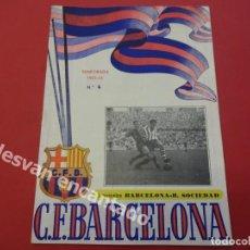 Coleccionismo deportivo: CF BARCELONA. PROGRAMA BARCELONA-REAL SOCIEDAD. TEMPORADA 1952-53. Lote 168070436