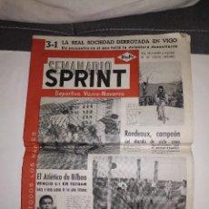 Coleccionismo deportivo: SPRINT SEMANARIO DEPORTIVO VASCO-NAVARRO 1952 / ATLETICO DE BILBAO VENCIO 2-1 EN TETUAN. Lote 168613996