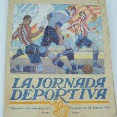 Coleccionismo deportivo: LA JORNADA DEPORTIVA. NÚMERO EXTRAORDINARIO CAMPEONATO DE ESPAÑA, 1923. FÚTBOL, ATHETIC. BILBAO. NÚM. Lote 168798584