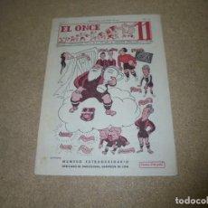 Coleccionismo deportivo: EL ONCE REVISTA SATIRICA DE FUTBOL Nº 169.-1948 EXTRAORDINARIO DEDICADO AL BARCELONA CAMPEON DE LIGA. Lote 168837668