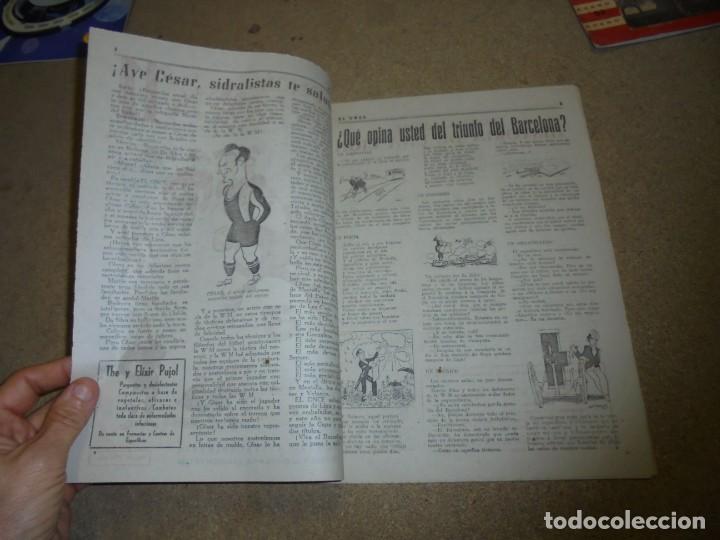 Coleccionismo deportivo: EL ONCE REVISTA SATIRICA DE FUTBOL Nº 169.-1948 EXTRAORDINARIO DEDICADO AL BARCELONA CAMPEON DE LIGA - Foto 2 - 168837668