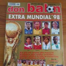 Coleccionismo deportivo: DON BALÓN EXTRA MUNDIAL 98 / EXTRA N 39 / MUNDIAL FRANCIA 1998. Lote 169106817