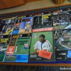 Colecionismo desportivo: REVISTA ATLÉTICO DE MADRID NºS 44 51 72 73 74 75 76 97 98 CON PÓSTER 1972. REGALO NºS 24 25 26 RARAS. Lote 169414640