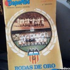 Coleccionismo deportivo: VALENCIA CF. BODAS DE ORO. 50 ANIVERSARIO. Lote 170055306