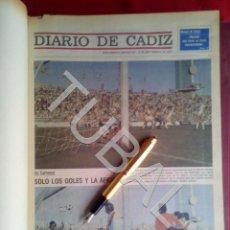 Coleccionismo deportivo: TUBAL DIARIO DE CADIZ SUPLEMENTO DEPORTIVO 1977 78 79 Y 80 EN DOS TOMOS GIGANTES. Lote 170734475