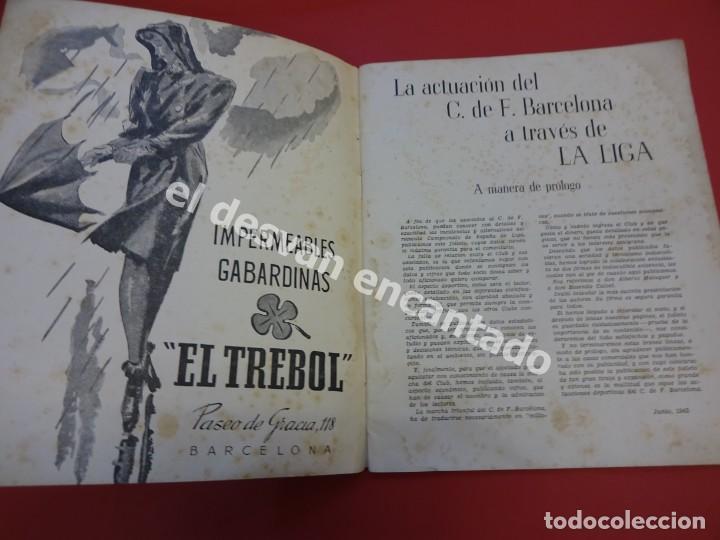 Coleccionismo deportivo: RESUMEN DE LIGA 1944-45. Campeón CF Barcelona. Libreto original - Foto 2 - 170978480