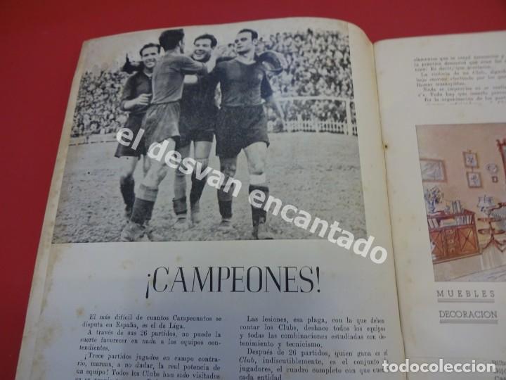 Coleccionismo deportivo: RESUMEN DE LIGA 1944-45. Campeón CF Barcelona. Libreto original - Foto 3 - 170978480