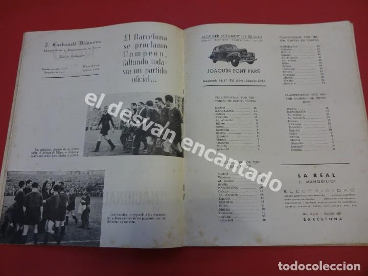Coleccionismo deportivo: RESUMEN DE LIGA 1944-45. Campeón CF Barcelona. Libreto original - Foto 4 - 170978480