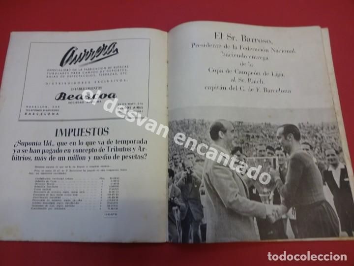 Coleccionismo deportivo: RESUMEN DE LIGA 1944-45. Campeón CF Barcelona. Libreto original - Foto 6 - 170978480