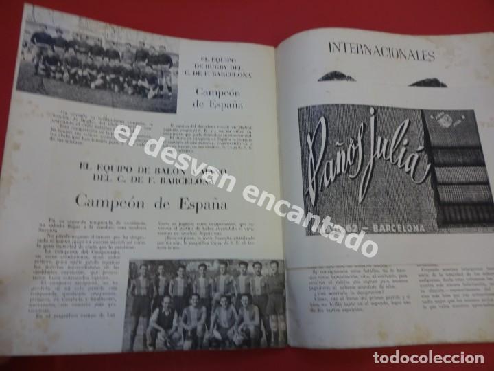 Coleccionismo deportivo: RESUMEN DE LIGA 1944-45. Campeón CF Barcelona. Libreto original - Foto 7 - 170978480