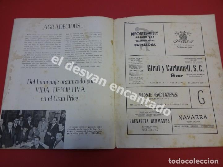 Coleccionismo deportivo: RESUMEN DE LIGA 1944-45. Campeón CF Barcelona. Libreto original - Foto 8 - 170978480