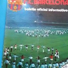 Coleccionismo deportivo: F. C. BARCELONA . BOLETIN OFICIAL INFORMATIVO N° 46 ENERO - MARZO 1975. Lote 171052114