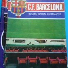 Coleccionismo deportivo: C. F. BARCELONA .BOLETIN OFICIAL INFORMATIVO .N° 20 SEPTIEMBRE 1972. Lote 171055127
