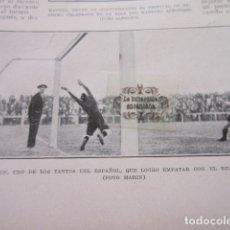 Coleccionismo deportivo: FOTO RECORTE AÑO 1929 - REAL UNION IRUN CONTRA ESPAÑOL BARCELONA. Lote 171230387