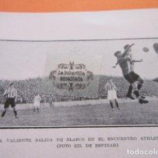 Coleccionismo deportivo: FOTO RECORTE AÑO 1929 - ATHLETIC REAL SOCIEDAD BILBAO BLASCO. Lote 171230428