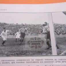Coleccionismo deportivo: RECORTE 1929 - ATHLETIC BILBAO REAL MADRID URQUIZU BARCELONA REAL SOCIEDAD BOXEO JOSE GIRONES LARSEN. Lote 171231302