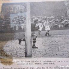 Coleccionismo deportivo: FOTO RECORTE 1929 - NEBOT SAN SEBATIAN REAL SOCIEDAD REAL MADRID - BARCELONA RACING SANTANDER. Lote 171233315