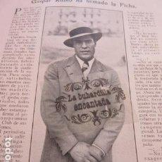 Coleccionismo deportivo: ARTICULO 1929 - GASPAR RUBIO REAL MADRID SELECCION NACIONAL ESPAÑA - BOXEO ALF BROWN. Lote 171235000