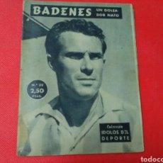 Coleccionismo deportivo: BADENES UN GOLEADOR NATO .IDOLOS DEL DEPORTE N° 32 (13X16) 32PP. 1958/59. Lote 171265838