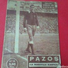 Coleccionismo deportivo: PAZOS .LA MARAVILLA ELÀSTICA .IDOLOS DEL DEPORTE N° 25 (12X16) 32PP 1958/59. Lote 171268005