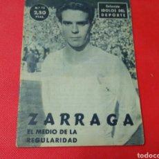 Coleccionismo deportivo: ZÀRRAGA .EL MEDIO DE LA REGULARIDAD .IDOLOS DEL DEPORTE N° 12 (12X16) 32PP 1958/59. Lote 171323147