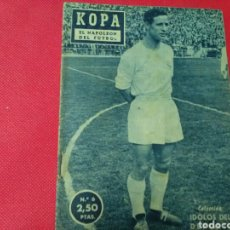 Coleccionismo deportivo: KOPA .E! NAPOLEON DEL FÚTBOL .IDOLOS DEL DEPORTE N° 6 (12X16) 32PP 1958/59. Lote 171323763