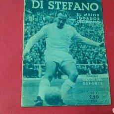 Coleccionismo deportivo: DI STEFANO .EL MEJOR JUGADOR DEL MUNDO .IDOLOS DEL DEPORTE N. 1. (12X16) 32PP 1958/59. Lote 171324750