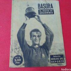 Coleccionismo deportivo: BASORA .E L HÉROE DE COLOMBES .IDOLOS DEL DEPORTE N° 5 (12X16) 32PP. 1958/59. Lote 171324958