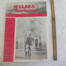 Coleccionismo deportivo: Nº 41 1965 MÁLAGA DEPORTIVA. SEMANARIO DEPORTIVO MALAGUEÑO. JESÚS GARAY. ATLETICO MARBELLA. Lote 171333055