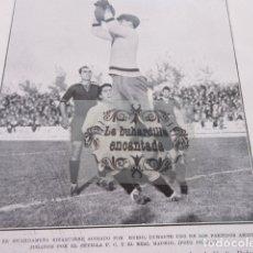 Coleccionismo deportivo: FOTO RECORTE 1929 - SEVILLA EIZAGUIRRE RUBIO REAL MADRID - PALMA DEL RIO CORDOBA ALFONSO XIII. Lote 171408478