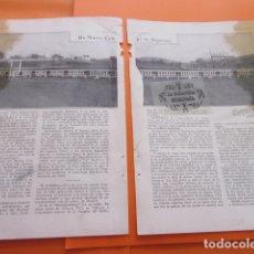Coleccionismo deportivo: ARTICULO 1929 - NUEVO CAMPO DE FUTBOL RANCING CLUB DE VALLECAS - 3 PAGINAS. Lote 171413628