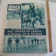 Coleccionismo deportivo: REVISTA BARÇA NÚMERO Nº 540, 1966. COPA FERIAS BARÇA 1 ESPAÑOL 0 Y LIGA BILBAO 1 BARÇA 0-. Lote 171424518