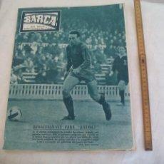 Coleccionismo deportivo: REVISTA BARÇA NÚMERO Nº 531, 1966. F.C. BARCELONA. QUIMET, VALENCIA, ZALDUA, OLSEN. Lote 171425800