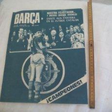 Coleccionismo deportivo: REVISTA BARÇA NÚMERO Nº 920, 1973. F.C. BARCELONA. MORA, JUVENILES CAMPEONES ESPAÑA,BIOSCA. Lote 171426420