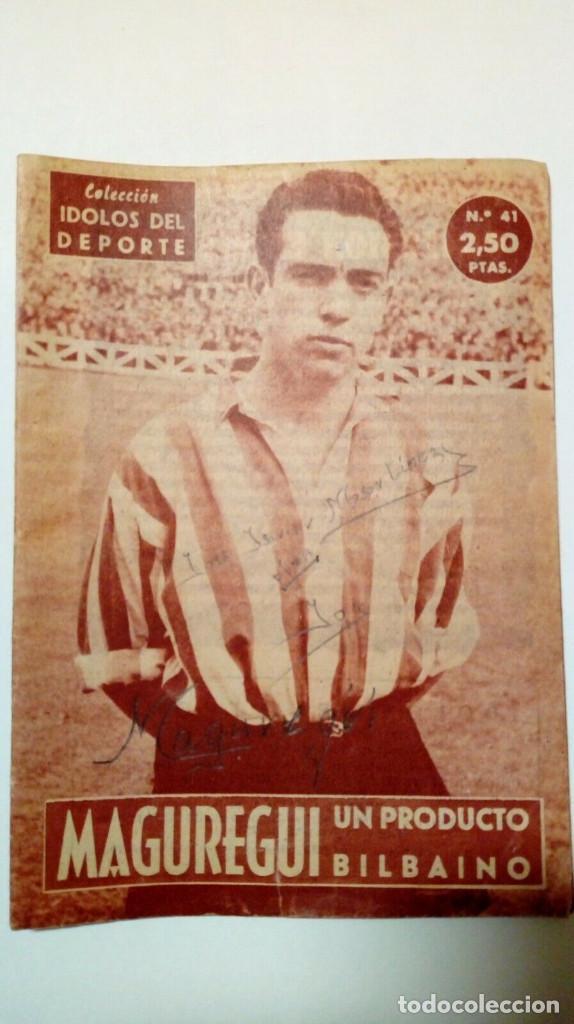 REVISTA IDOLOS DEL DEPORTE Nº 41: MAGUREGUI (16-1-59) - ATHLETIC CLUB BILBAO - (Coleccionismo Deportivo - Revistas y Periódicos - otros Fútbol)