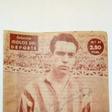 Coleccionismo deportivo: REVISTA IDOLOS DEL DEPORTE Nº 41: MAGUREGUI (16-1-59) - ATHLETIC CLUB BILBAO -. Lote 171623560