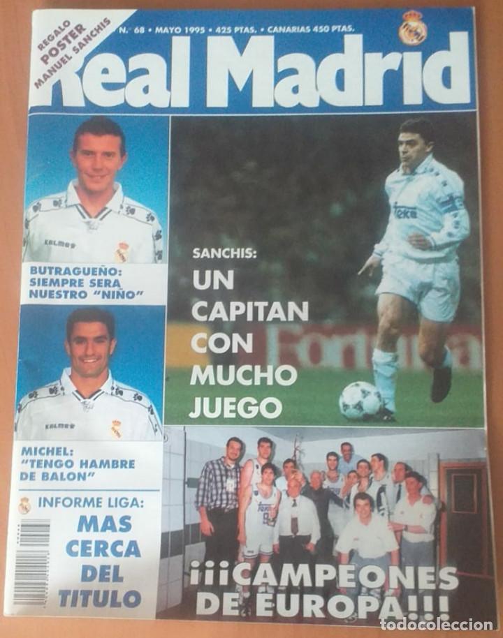 Coleccionismo deportivo: Revistas Real Madrid año 1995 nºs 68, 69, 70, 73 - Foto 2 - 171761799