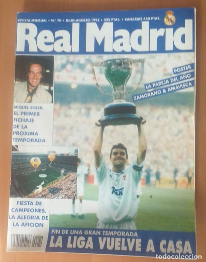 Coleccionismo deportivo: Revistas Real Madrid año 1995 nºs 68, 69, 70, 73 - Foto 3 - 171761799