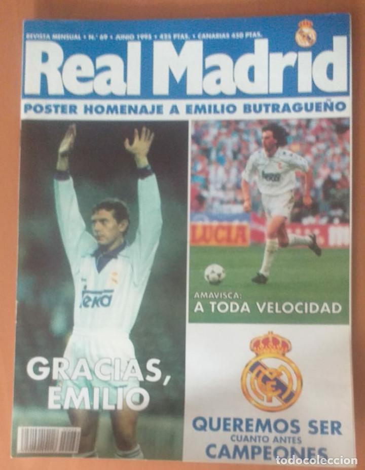 Coleccionismo deportivo: Revistas Real Madrid año 1995 nºs 68, 69, 70, 73 - Foto 4 - 171761799