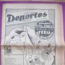 Colecionismo desportivo: PERIODICO DEPORTES, NUM. 200, NUMERO EXTRAORDINARIO DEDICADO A LA FERIA VALENCIANA FUTBOL VALENCIA. Lote 171980502