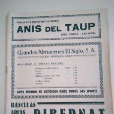 Coleccionismo deportivo: ANUARIO DE FUTBOL DE 1923 ,UNICO. Lote 172027449