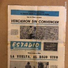 Coleccionismo deportivo: ESTADIO N°31 (MAYO 1970). SEMANARIO DE DEPORTES Y ESPECTÁCULOS. ATHLETIC CLUB - CADIZ VUELTA COPA RE. Lote 205142685