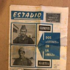 Coleccionismo deportivo: ESTADIO N°100 (JULIO 1971). SEMANARIO DE DEPORTES Y ESPECTÁCULOS. JAVI CLEMENTE E IGARTUA EN MILI. Lote 172087729