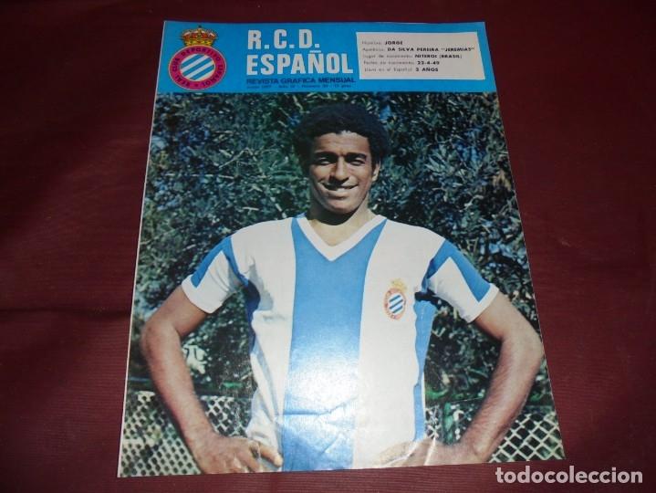 MAGNIFICAS 11 REVISTAS,GRAFICA MENSUAL R.C.D. ESPAÑOL (Coleccionismo Deportivo - Revistas y Periódicos - otros Fútbol)