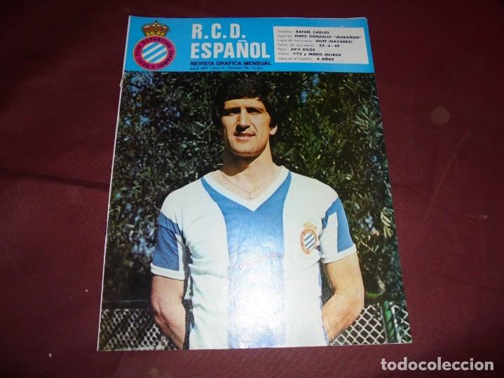 Coleccionismo deportivo: magnificas 11 revistas,grafica mensual R.C.D. ESPAÑOL - Foto 3 - 172164705